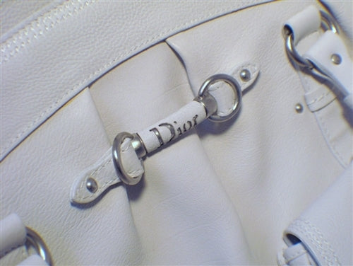 Christian Dior White Leather Shoulder Shopper Bag- LIMITED EDITION