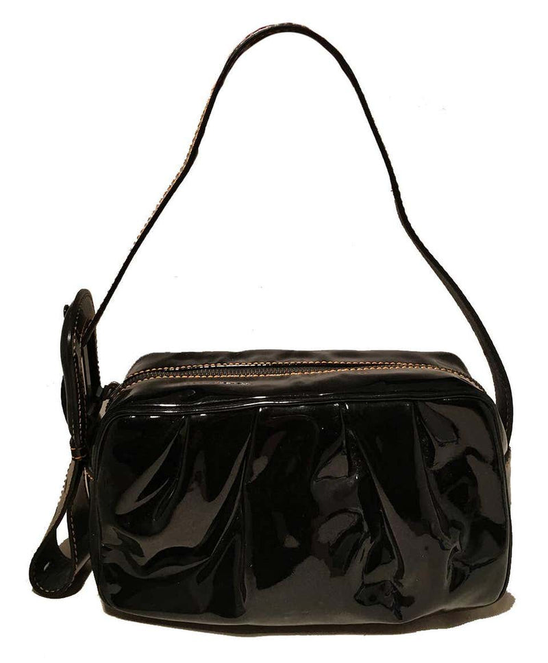 Fendi Borsa Mini B Black Patent Leather Handbag