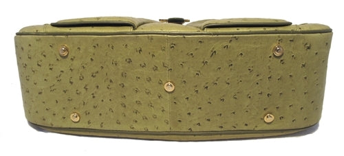 Christian Dior Green Ostrich Leather Handbag