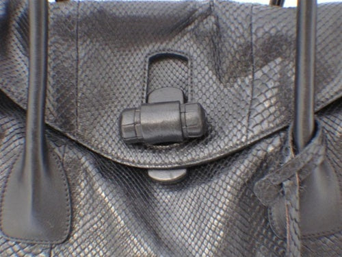 Jill Sander Black Python Shoulder Bag