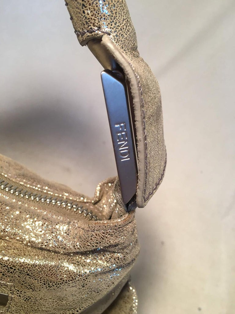 Fendi Gold Leather Wrapping Straps Small Shoulder Bag