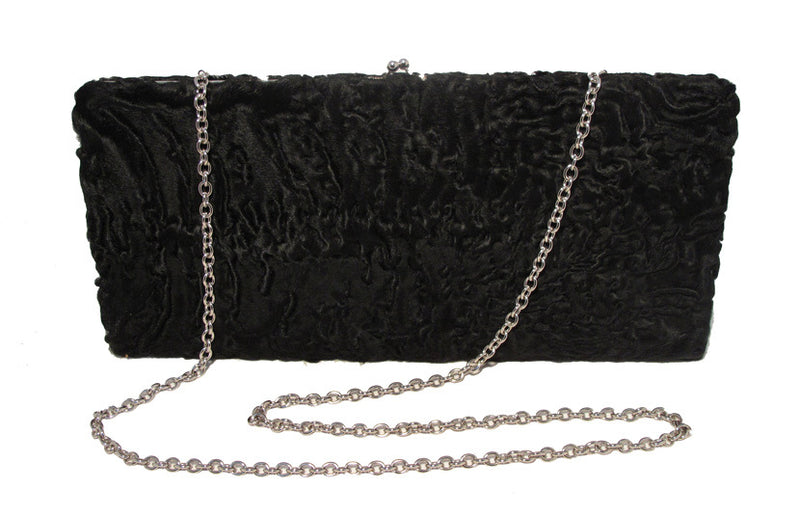 Brooks Brothers Black Swarkara Oversized Clutch