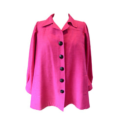 Yves Saint Laurent Vintage Pink Silk and Linen Faille Jacket