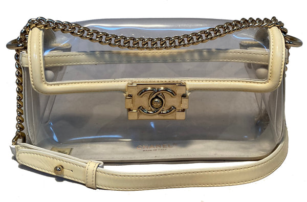 Chanel Clear PVC Classic Flap Shoulder Bag