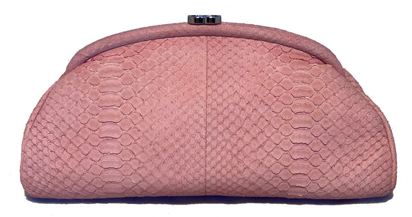Chanel Pink Python Timeless Clutch