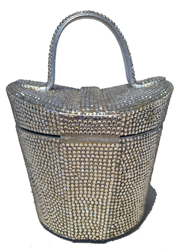 Judith Leiber Vintage Swarovski Crystal Basket Evening Bag