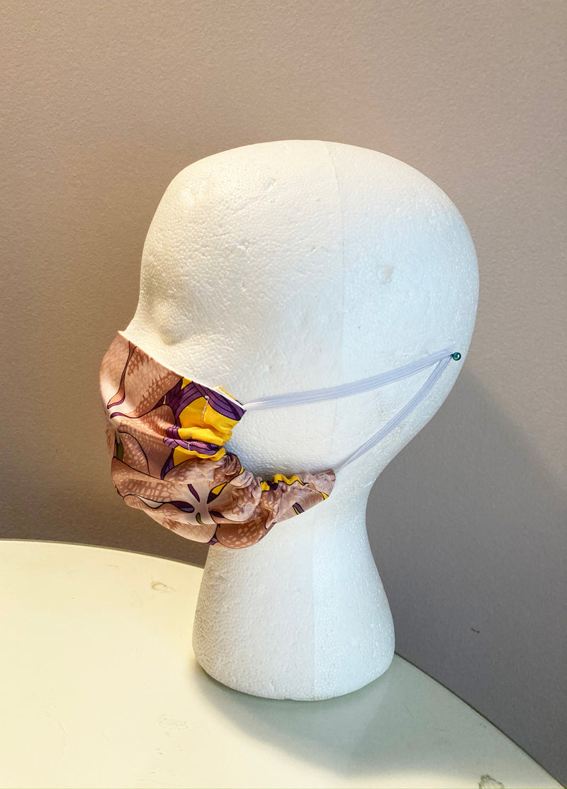 Hermes Souvenirs d'Asie Silk Scarf Face Covering