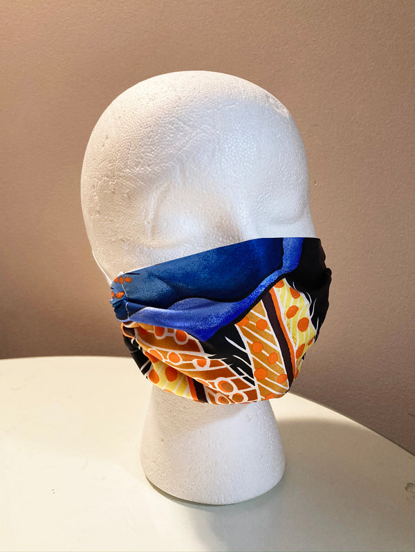 Hermes Handmade Vintage Gold Les Fetes Du Roi Soleil Silk Scarf Wrapped Padded Headband Crown