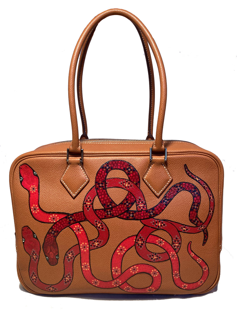 Hermes Hand Painted Snakes Plume 28
