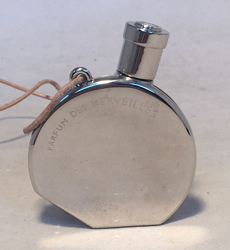 Hermes Silver Palladium Perfume Bottle Necklace