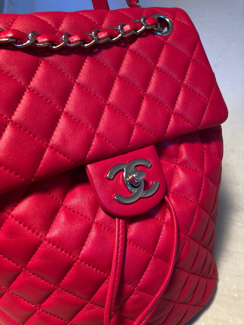 Chanel Dark Pink Urban Spirit Backpack
