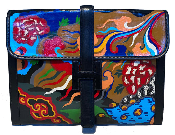 Hermes Hand Painted Jige 35 Clutch