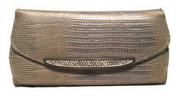 Judith Leiber Silver Lizard Crystal Front Evening Bag Clutch