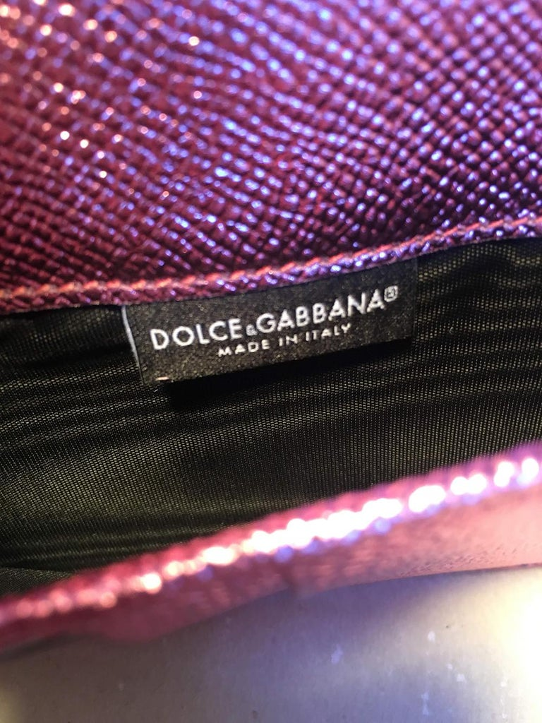 NWOT Dolce and Gabbana Pink Sicily Von Wallet Cell Phone Clutch Purse