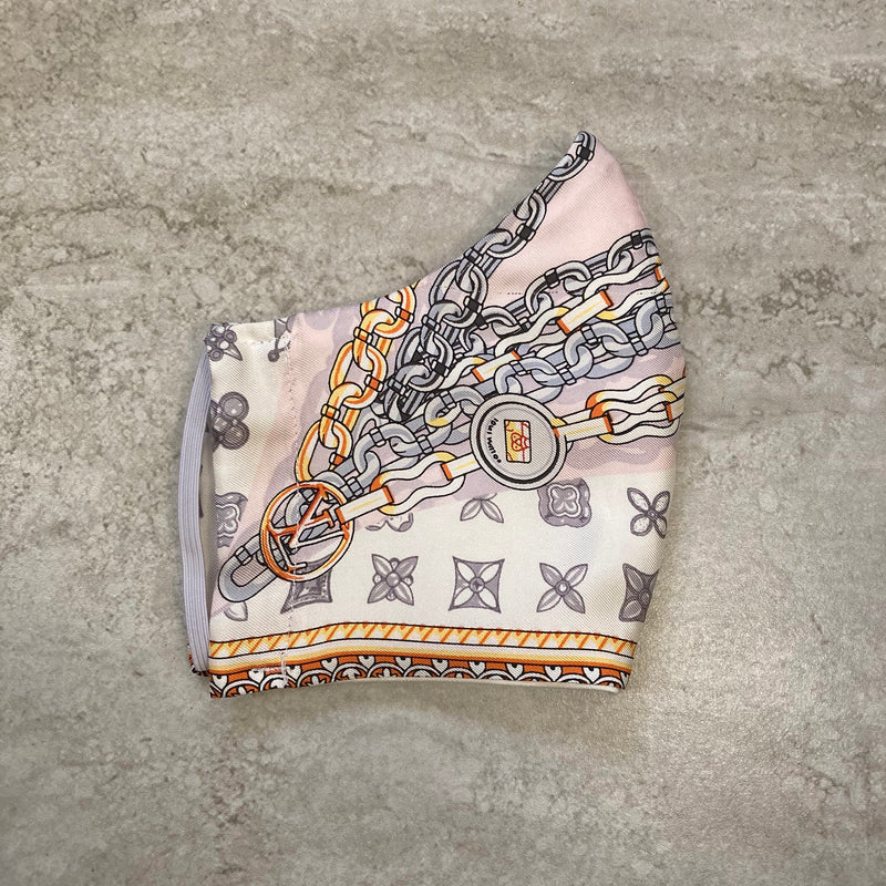 Louis Vuitton Chain Link Silk Scarf Face Mask