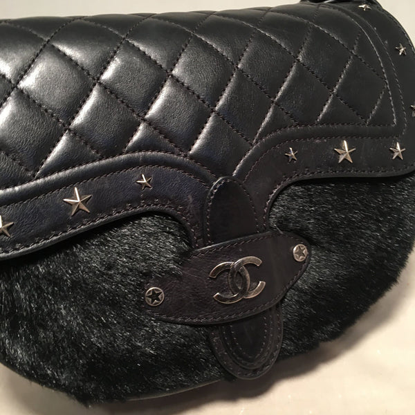 Chanel Vintage Dallas Studded Saddle Bag