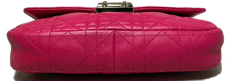 Christian Dior Pink Leather Cannage Quilted Miss Dior Flap Bag