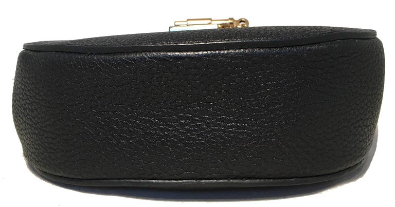 NWOT Chloe Mini Drew Black Leather Saddle Bag