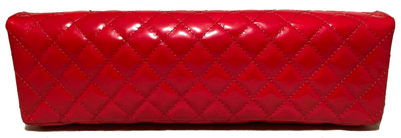 Chanel Red 2.55 Reissue Quilted Patent Leather East/West Clutch