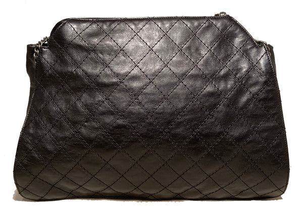 Chanel Black Leather Crave Tote Bag
