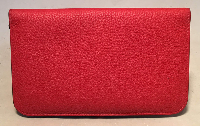 NWOT Hermes Red Togo Dogon Duo Wallet