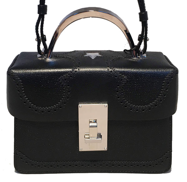 NWT The Volon Black Leather Alice Crossbody Box Shoulder Bag