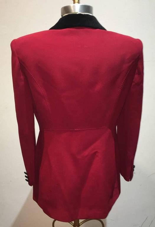 Moschino Couture Vintage Black and Red Women's Blazer Size 12