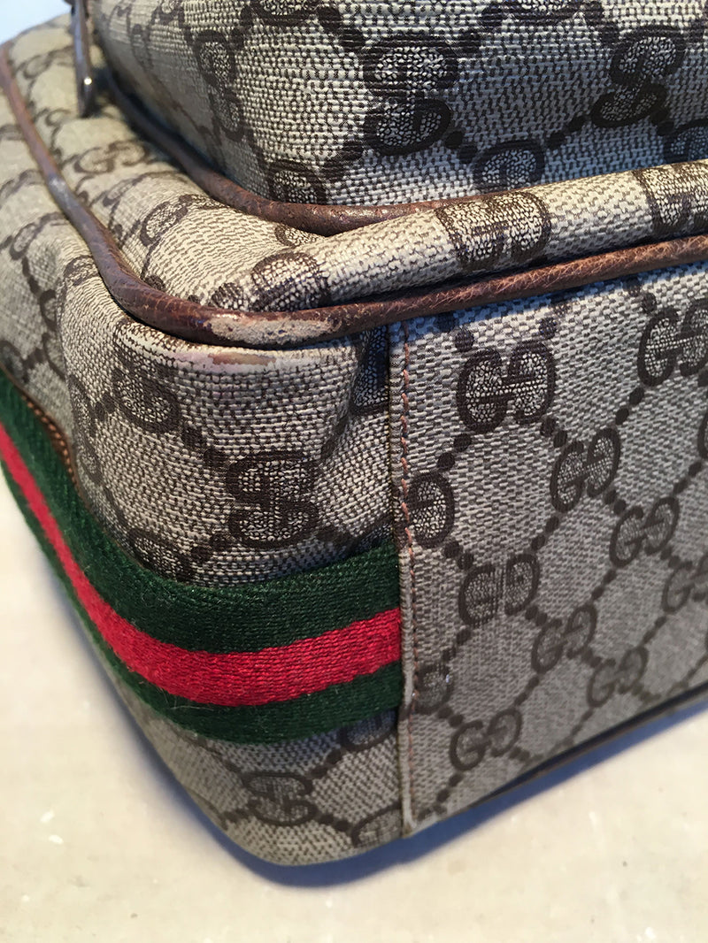 Gucci Vintage Monogram Customized Ladybug Reporter Messenger Shoulder Bag