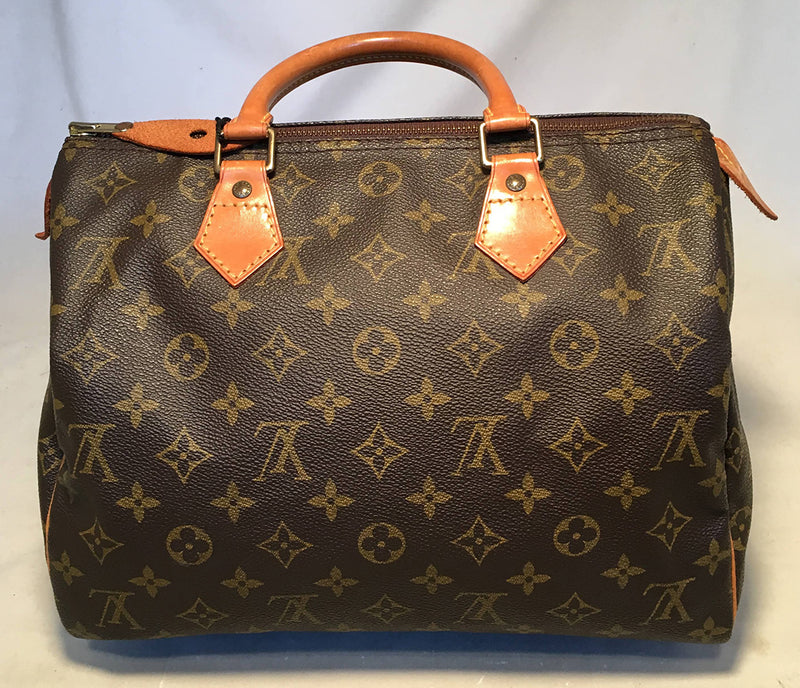Louis Vuitton Vintage Customized Hand Painted Wine Grapes Speedy 30 Handbag