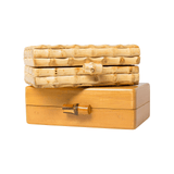 Bamboo Clasp Wood Clutch