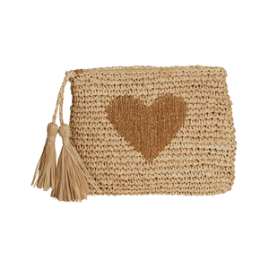 Gold Heart Clutch