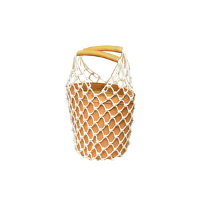 Vegan Leather Netted Bucket