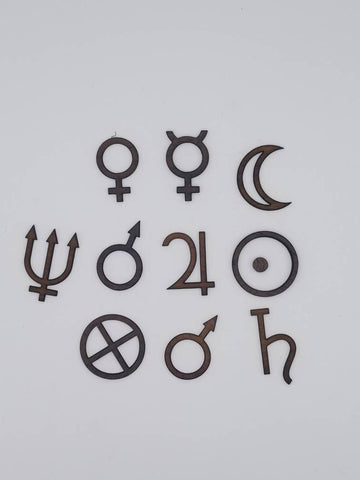 Planetary Sigils / Glyphs Set of 10