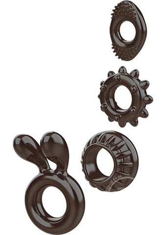 Ring My Bell Cock Ring Set Black