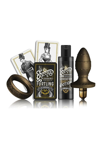 Dr Rocco Pleasure Emporium Kit & Kaboodle Cockring Anal Plug Multi Speed Bullet Waterproof