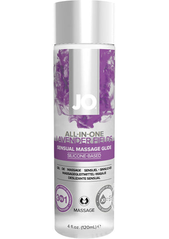 Jo Sensual Massage Oil All In One Lavender 4 Ounce