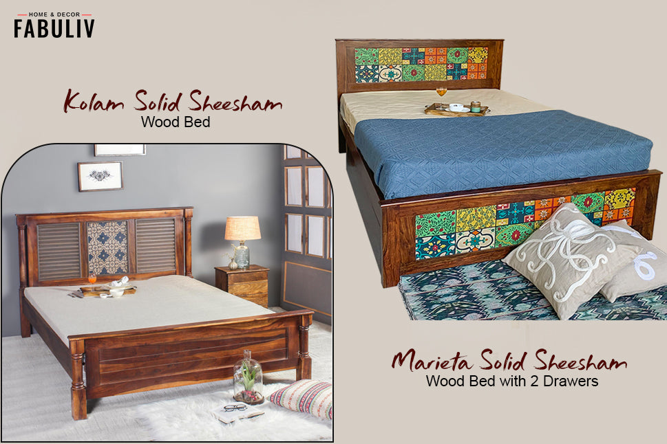 different materials for storage beds