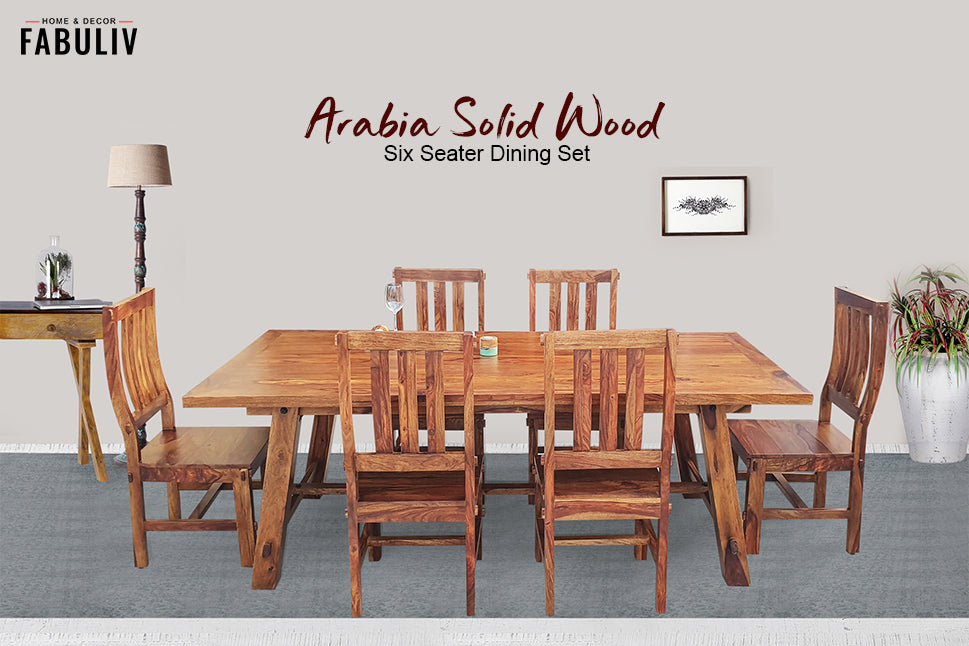 wooden rectangle dining table