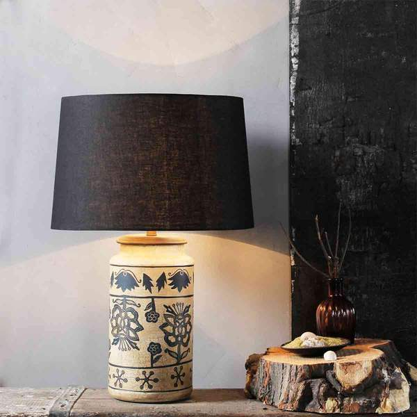 fabuliv handpainted table lamp