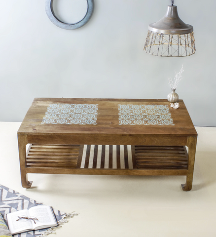 wooden coffee table for cozy corner home decor furniture