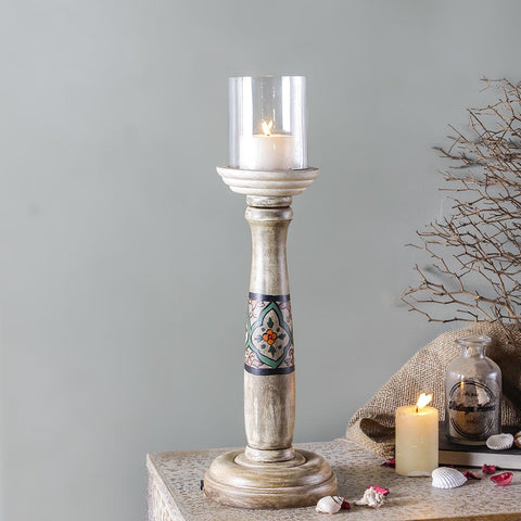 Brunhild Hand painted Candle Holder