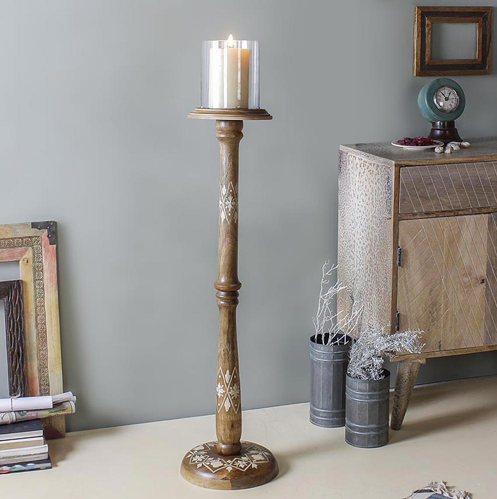 Hester Vintage Floor Candle Stand