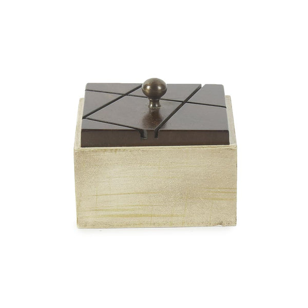 Coffee Square Wooden Box c