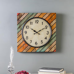 Elmira Wood 15 Square Wall Clock