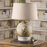 Globe Table Lamp (white wooden base)