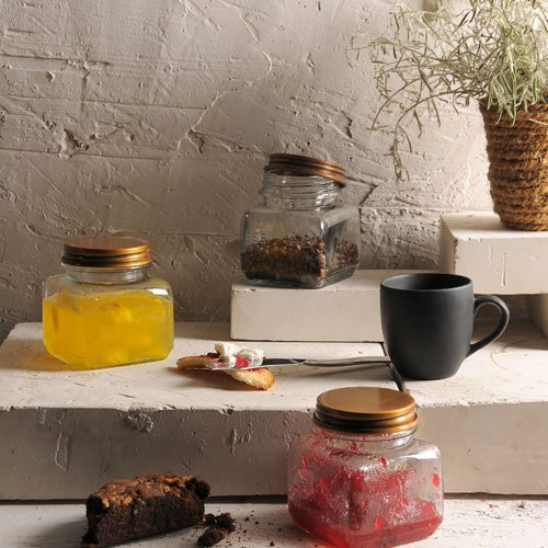 Lavina Set of 3 Glass Jars Small 1