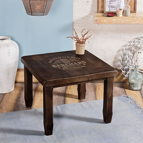 Baroque Walnut Square End Table