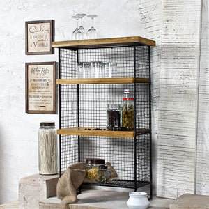 Country style floor shelf