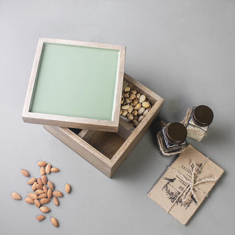 Teal Wooden Box