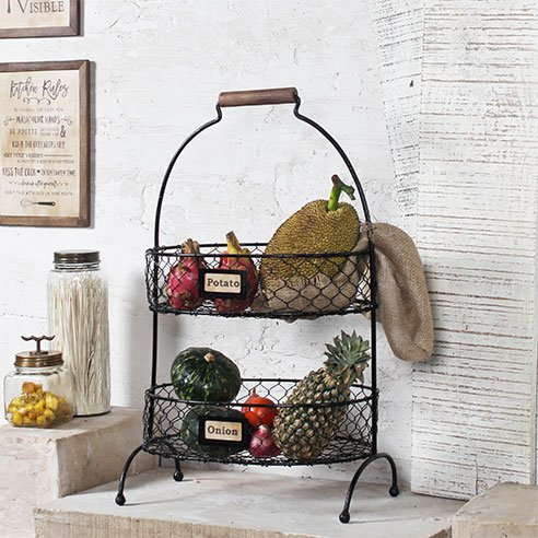 Aussie 2 tiered metal basket